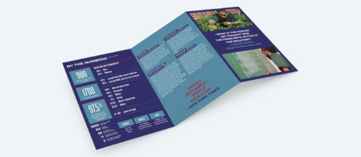 An open brochure with information about BPI.