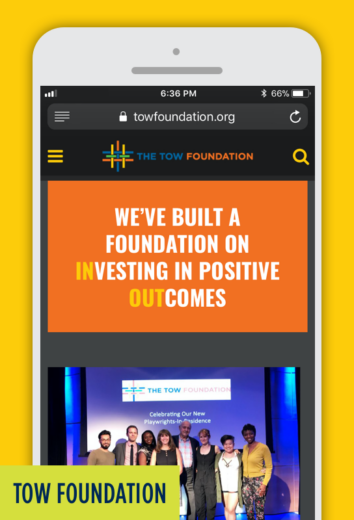 TOW Foundation: Mobile Website.